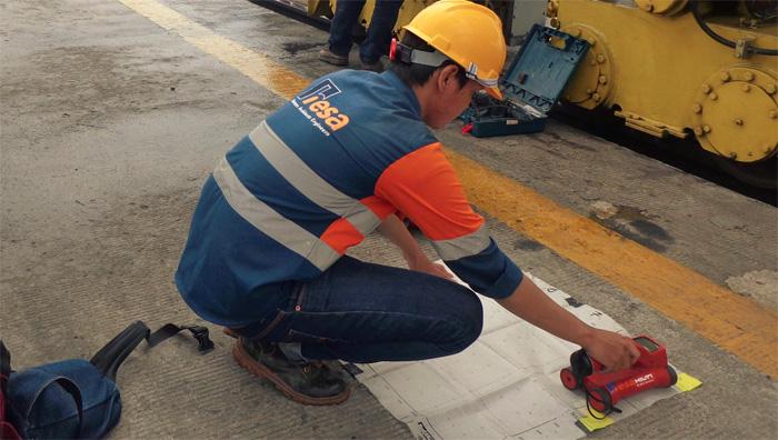 Scan Tulangan Beton & Covermeter Test dengan Hilti Ferro Scan Ps200