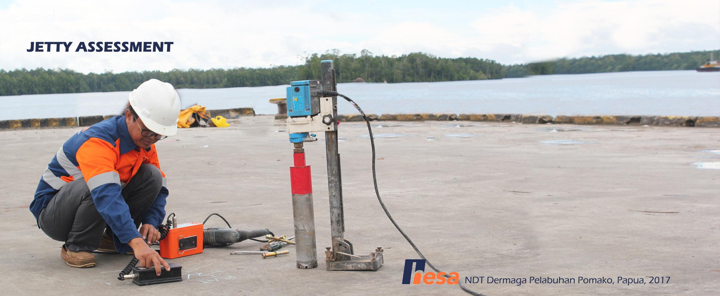 Rebar Scanning Dermaga Pomako Papua 2017