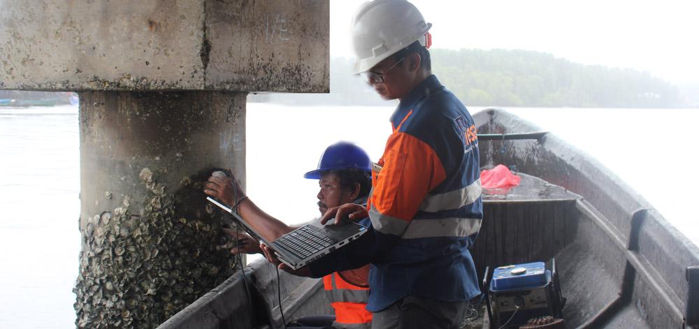 Seismic Shock Test pada Dermaga Pomako Papua 2017 2