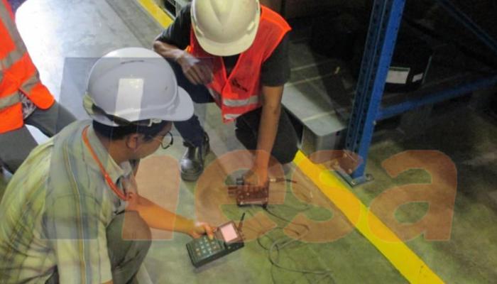 Impact Echo Test pada Audit Struktur Warehouse Taisho Pharmaceutical Indonesia