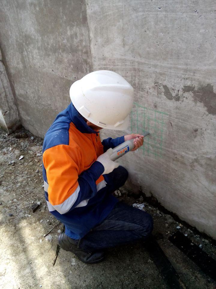 Uji Kekuatan Beton dengan Hammer Test