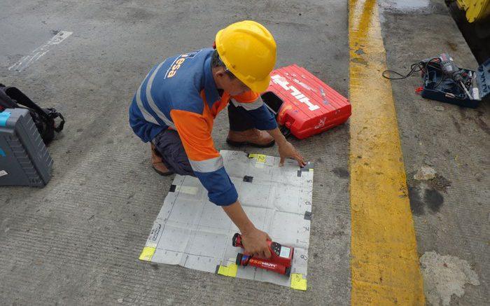 Rebar scanning atau covermeter test