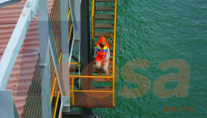 Investigasi visual jetty pulau sebuku
