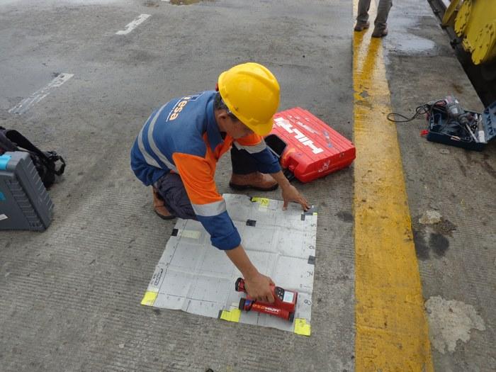 Nondestructive Test Dermaga Pelabuhan Belawan 4
