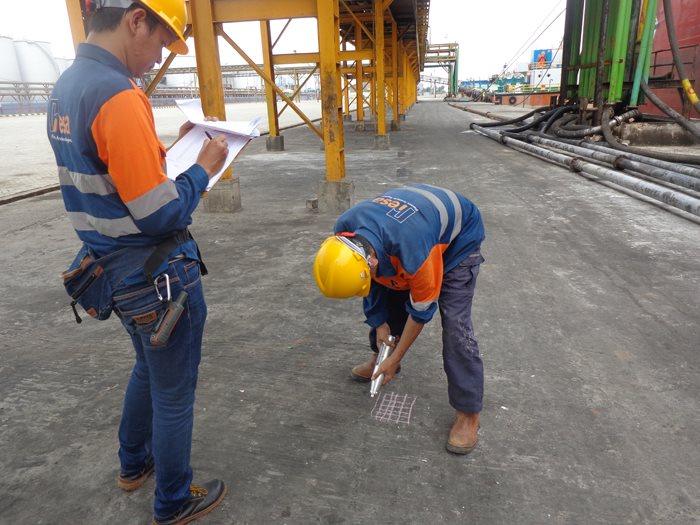 Hammer Test at Pelabuhan Belawan.