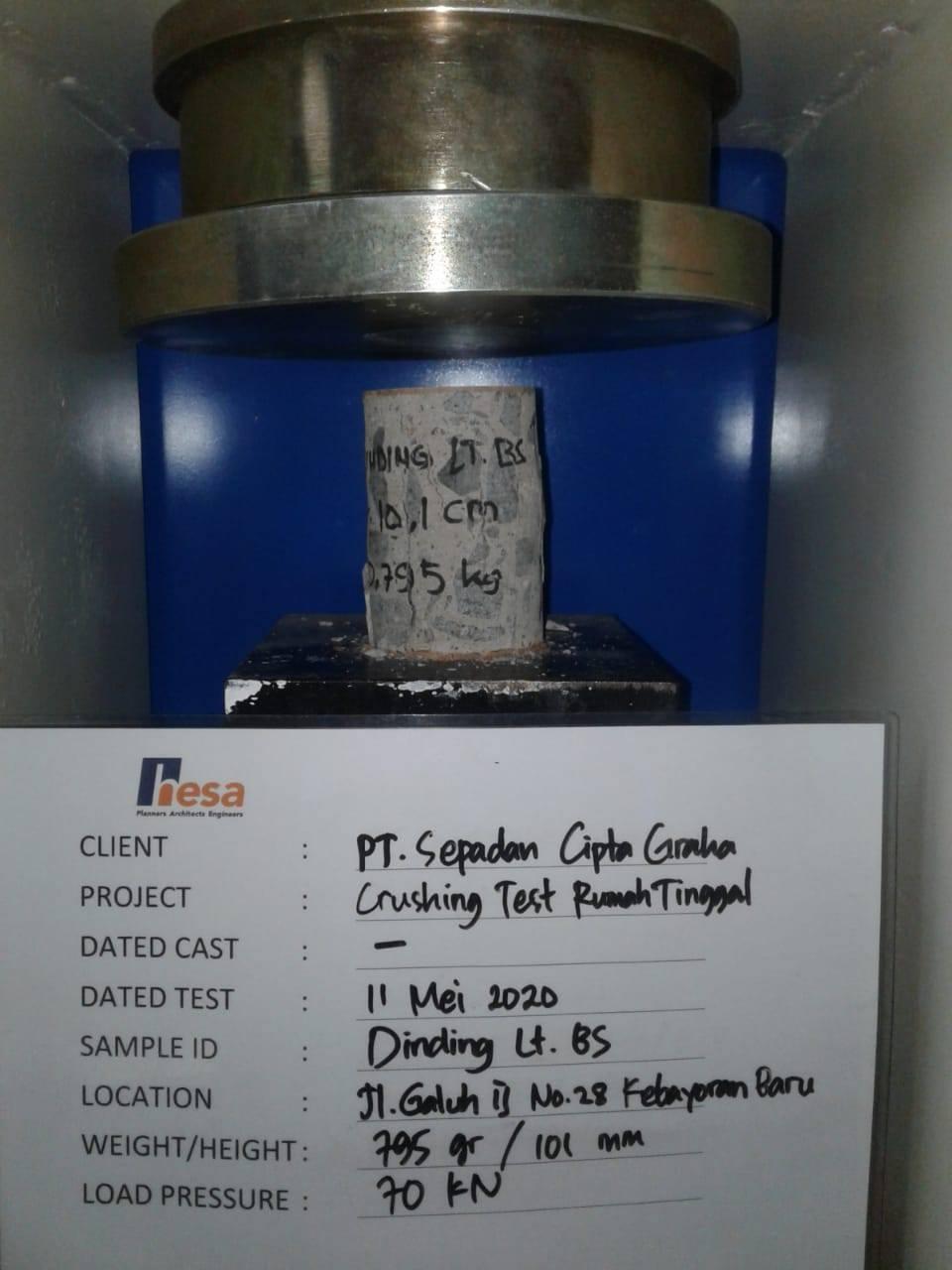 sampel uji beton