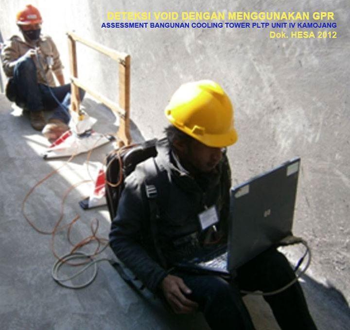 Deteksi Void Dengan Menggunakan GPR pada Assesment Bangunan Cooling Tower PLTP Unit IV Kamojang