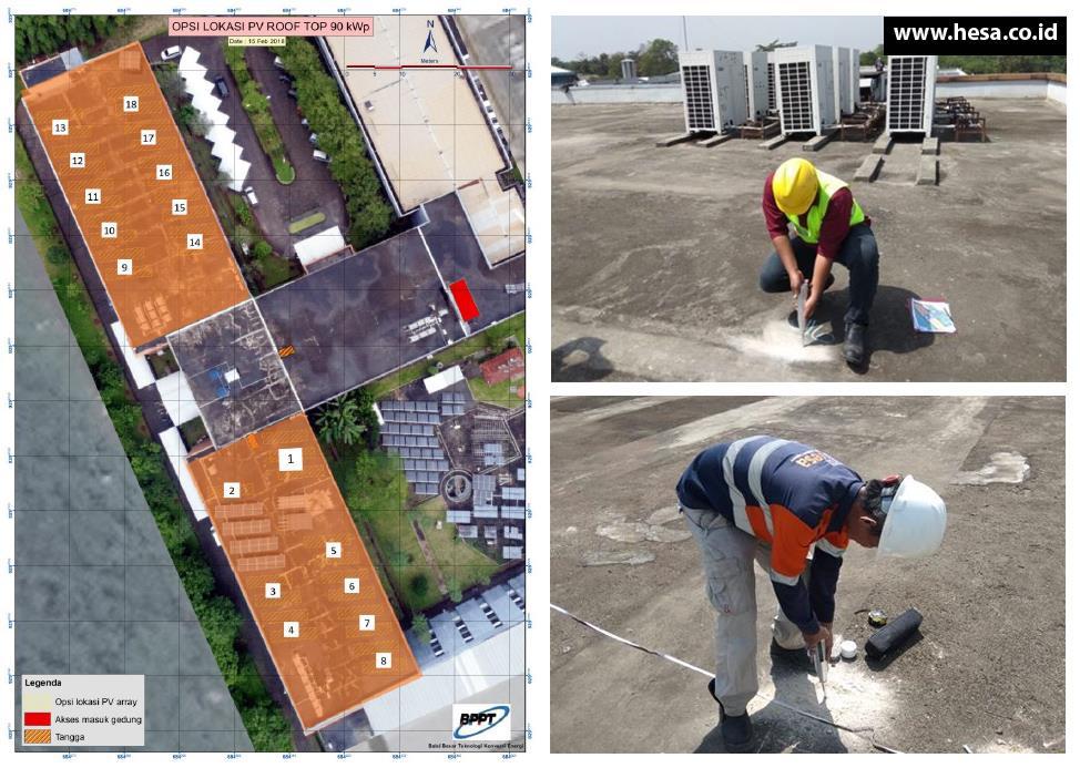 Hammer Test Roof Top Gedung 625 Balai Besar Teknologi Konversi Energi