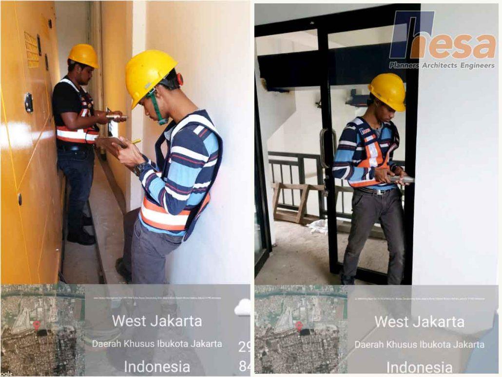 Hammer Test di Struktur Bangunan Pelengkap Pintu Air Waduk Bojong Jakarta Barat