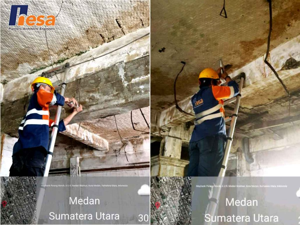 Hammer Test dalam proses Assessment Struktur Gedung LMAN Medan