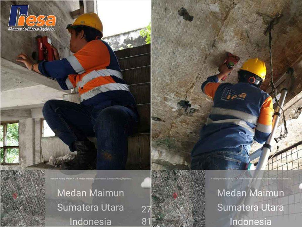 Rebar Scanning pada proses Assessment Struktur Gedung Lembaga Manajenen Aset Negara, Medan