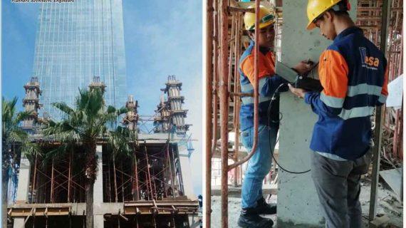 Ultrasonic Testing Struktur Beton Alamanda Tower