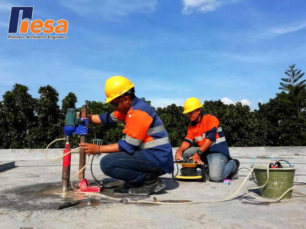 Pengujian dengan metode core drill pada Gedung PT. Kimia Farma Plant Jakarta
