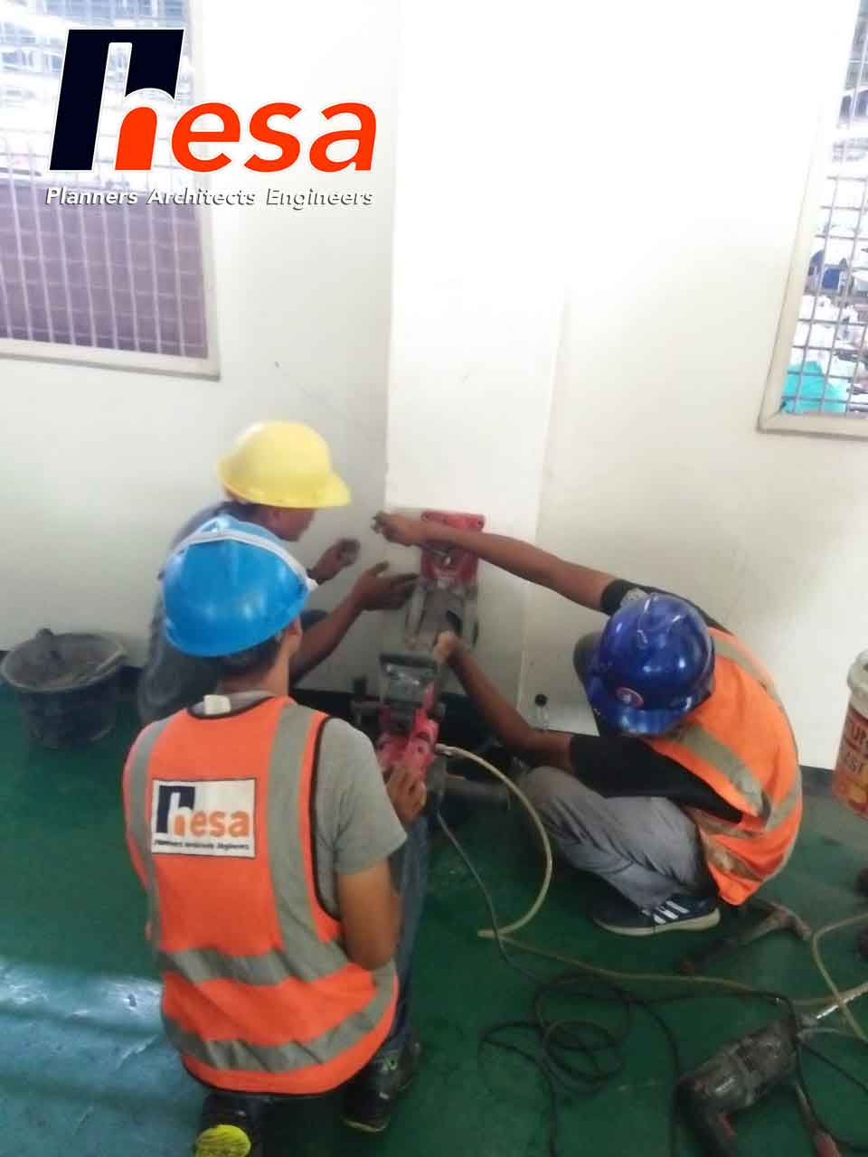 Core Drill Pengujian Struktur Bangunan Gudang KBN Cakung1