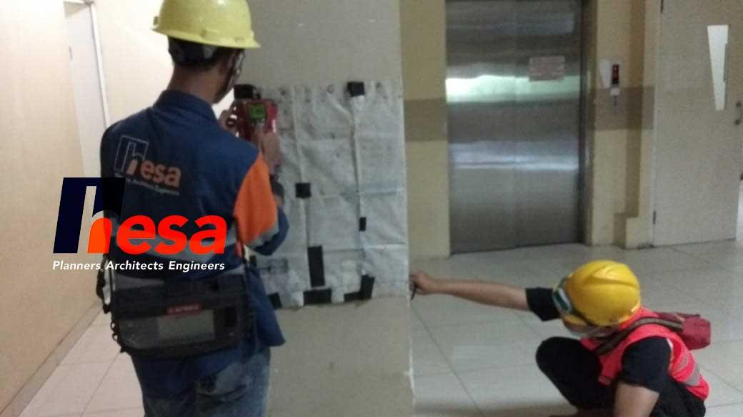 Covermeter Test Gedung RS sumber waras Cirebon