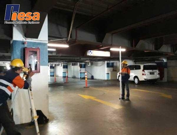 Proses Levelling di Mall PGC Cililitan Jakarta