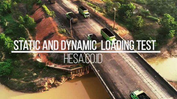 Loading Test Jembatan Trimartani Tanah Bumbu Kalimantan Selatan