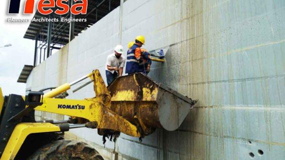 Uji Kekuatan Struktur Beton Waterpond SKG Cambai