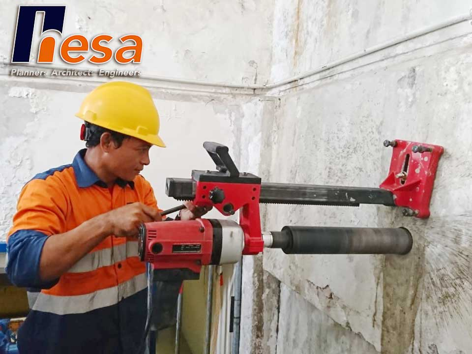 Core drill ini Assesment Unit Proses Pengolahan Air Aetra Pulogadung