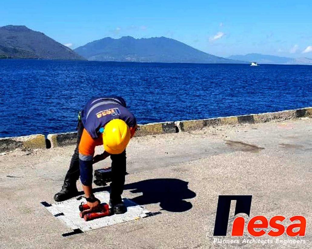 Covermeter Test Rebarscan Uji Struktur Pelabuhan Larantuka NTT