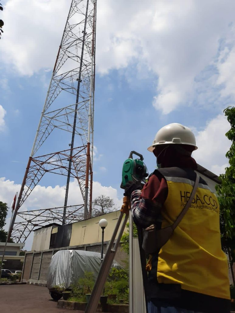 Uji Struktur Tower TV di Joglo