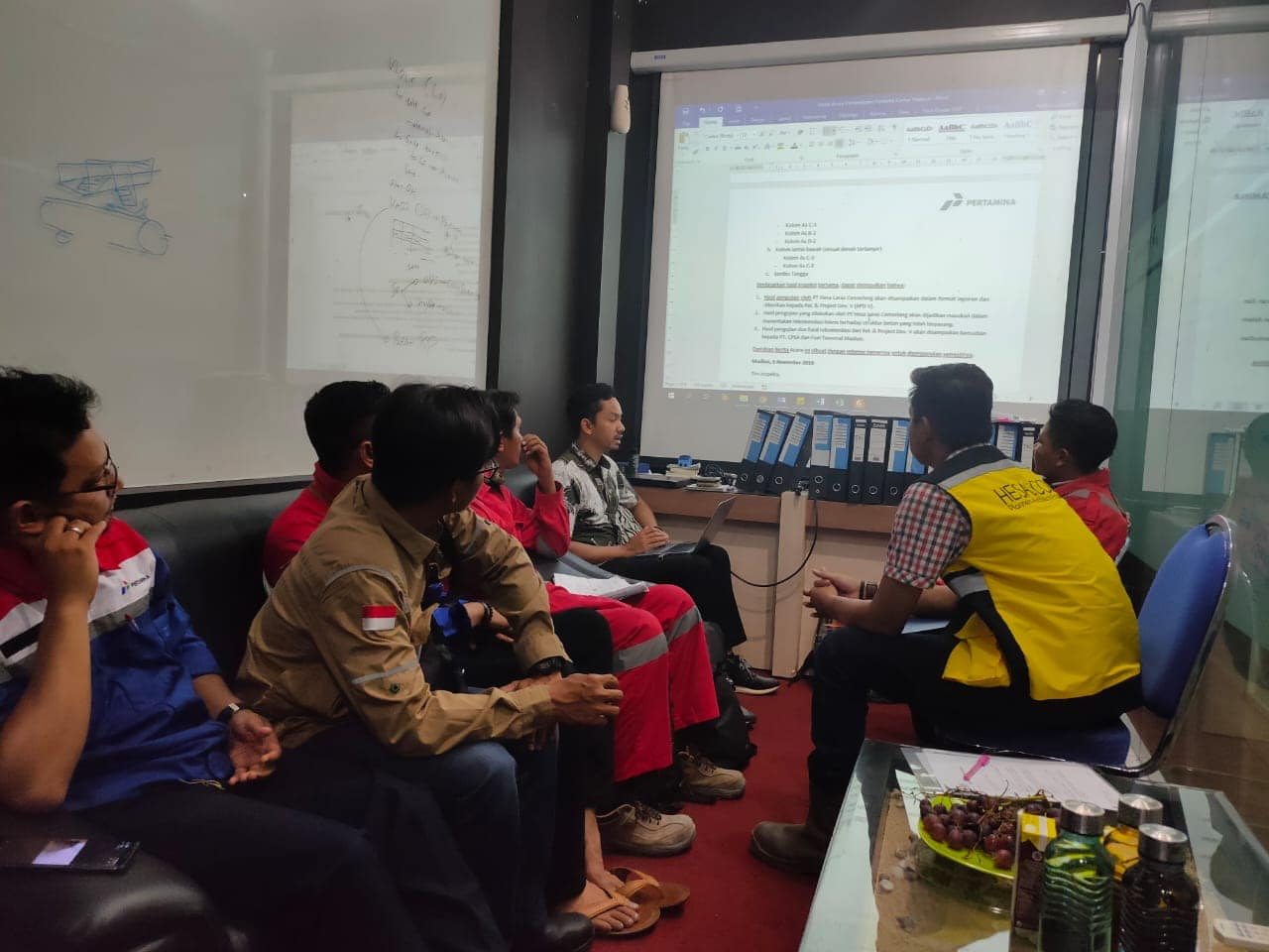 Presentasi Hasil Uji Pengujian Struktur Beton Renovasi Kantor TBBM Madiun