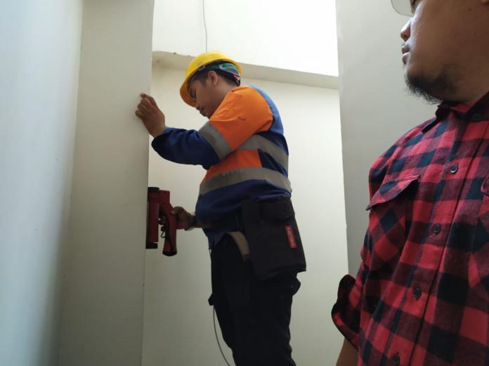 rebar scan gedung di mampang